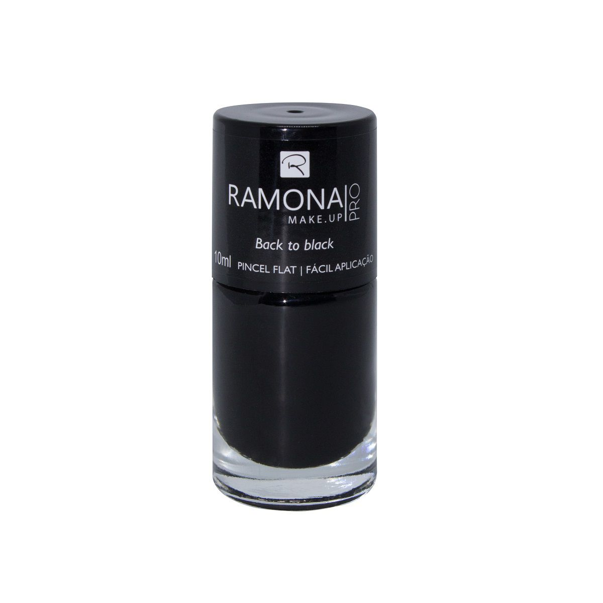 Esmalte cremoso Ramona Cosméticos Back to black 10ml