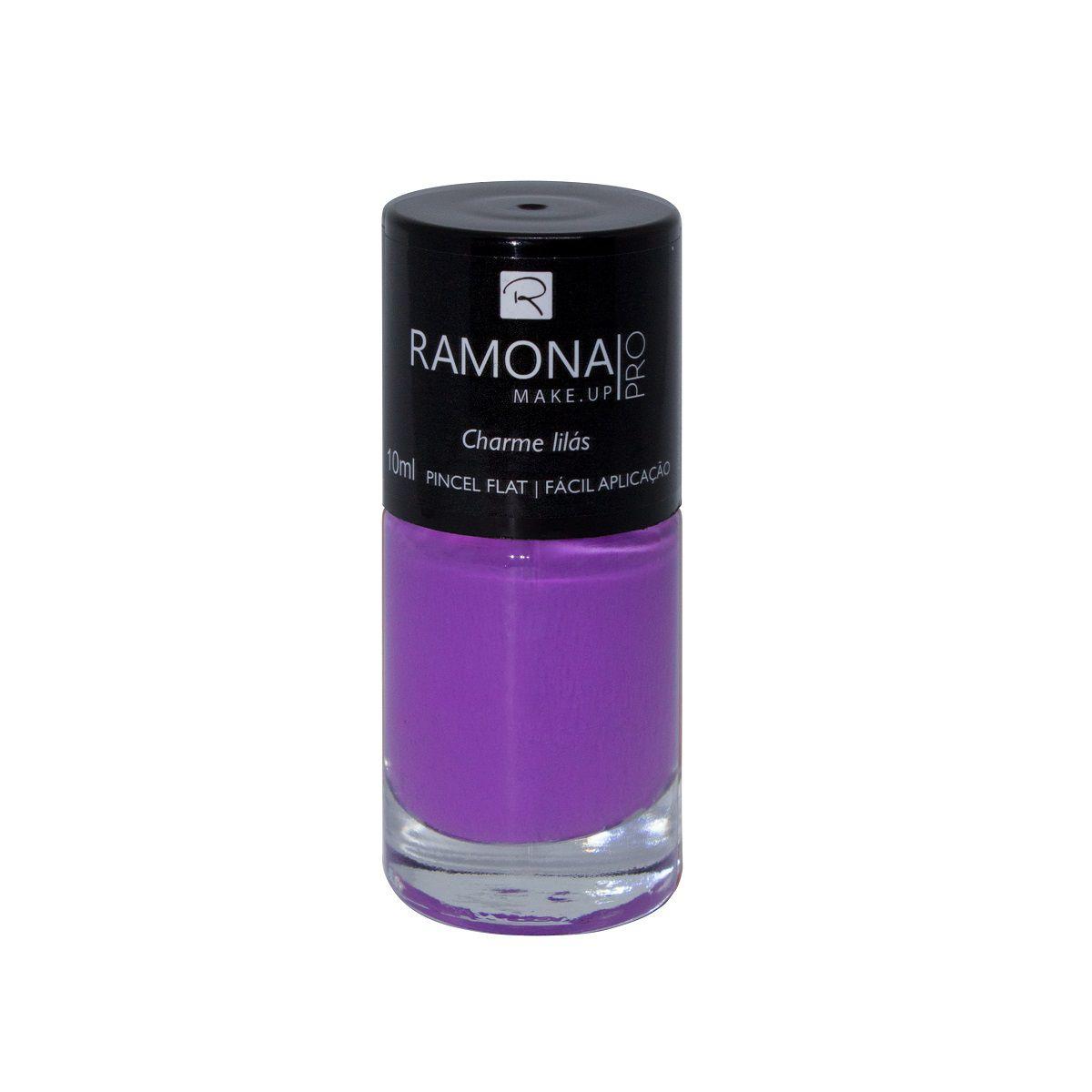 Esmalte cremoso Ramona Cosméticos Charme lilás 10ml