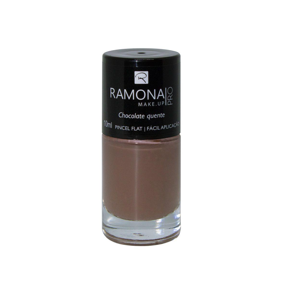 Esmalte cremoso Ramona Cosméticos Chocolate quente 10ml