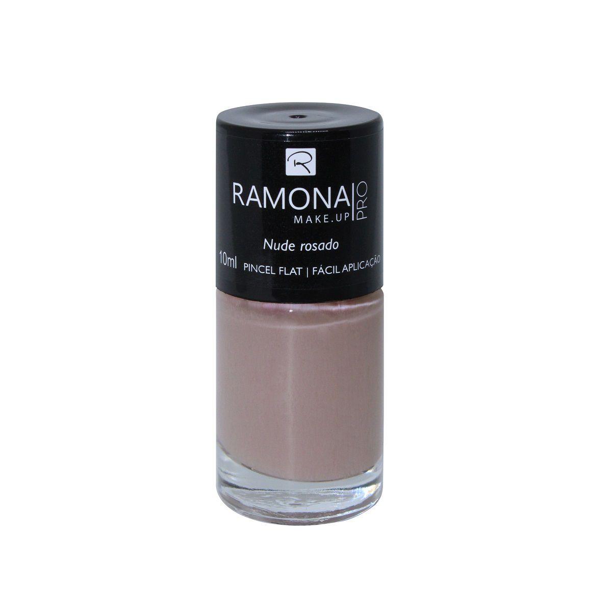 Esmalte cremoso Ramona Cosméticos Nude rosado 10ml