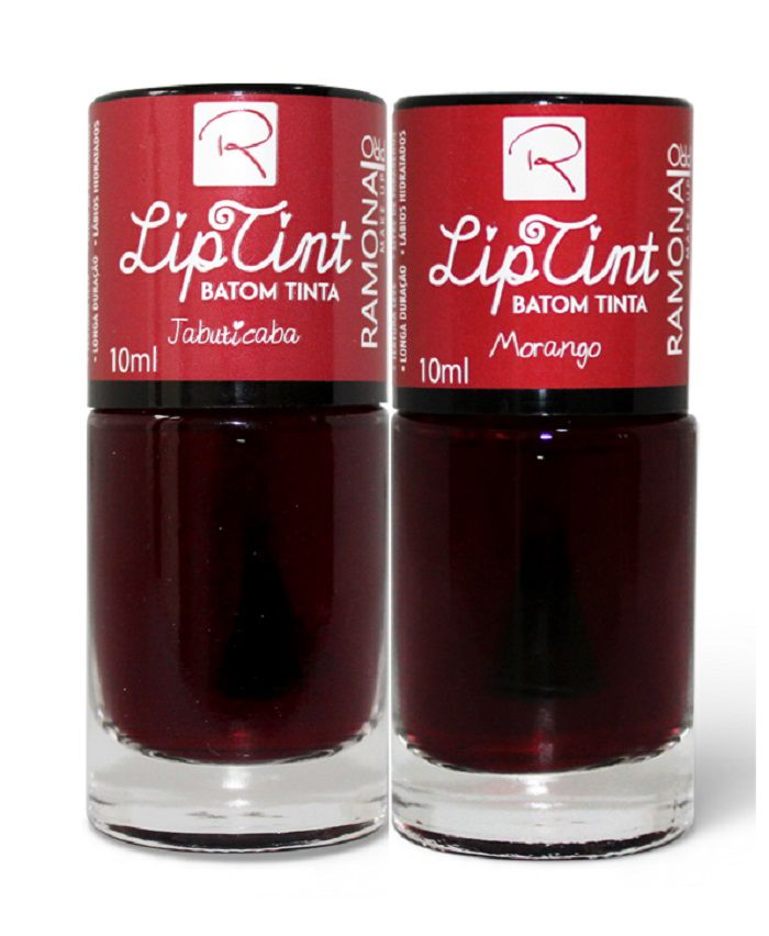 Kit Batom Lip Tint Jabuticaba + Morango 10ml