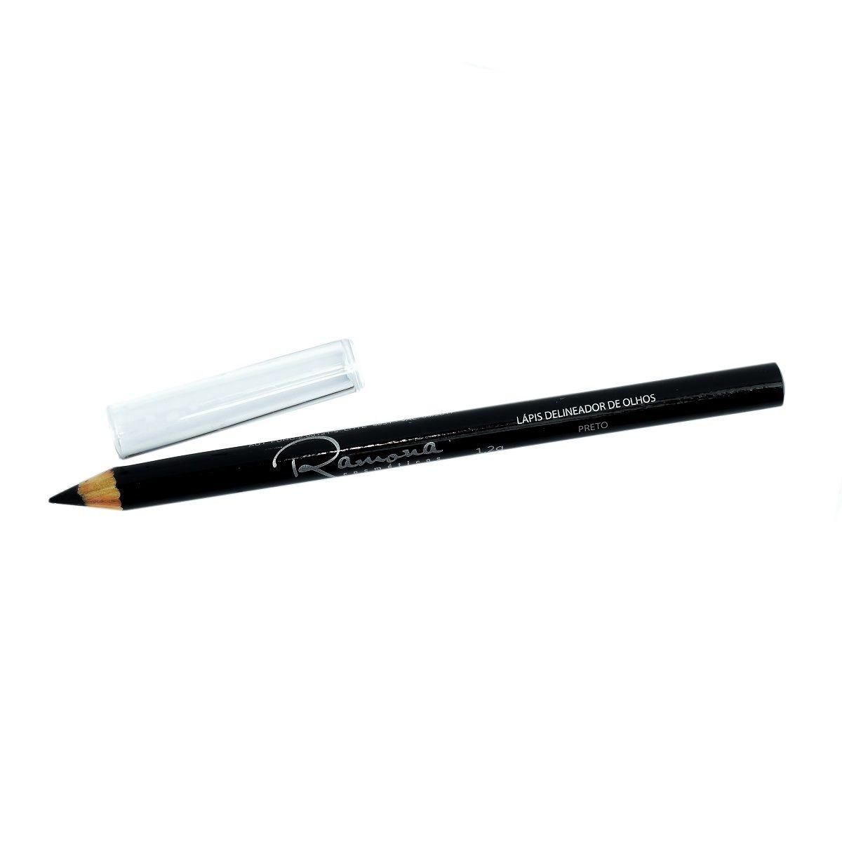 Lápis para Olhos Ramona Cosméticos Cor Preto 1,14gr