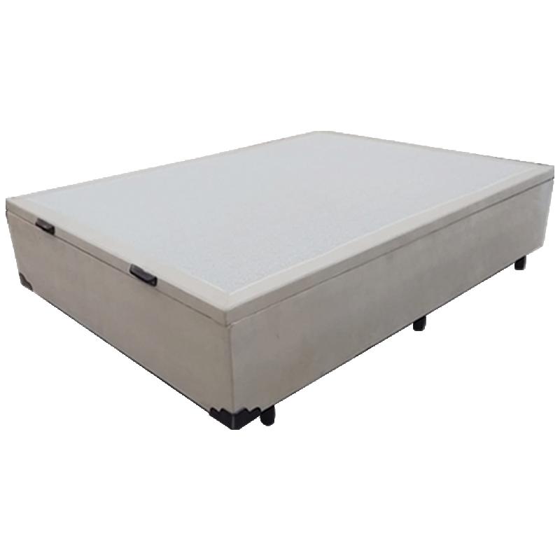 Box com Baú Casal Probox Cinza