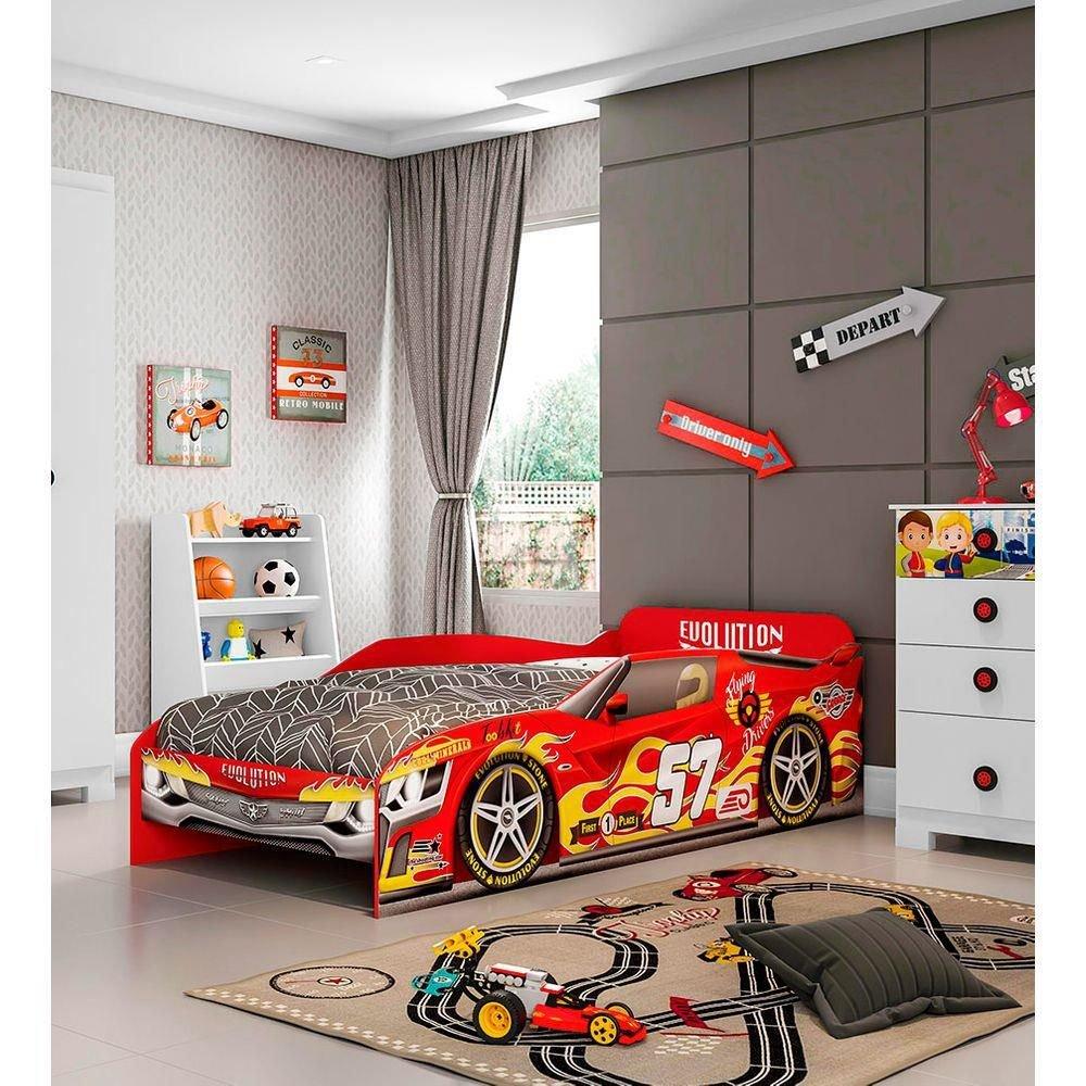 Cama Infantil Evolution Car Móveis Estrela