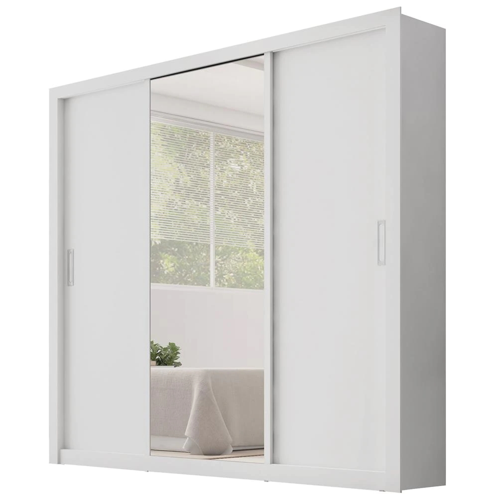Roupeiro Demobile Residence 3 Portas de Correr Com Espelho