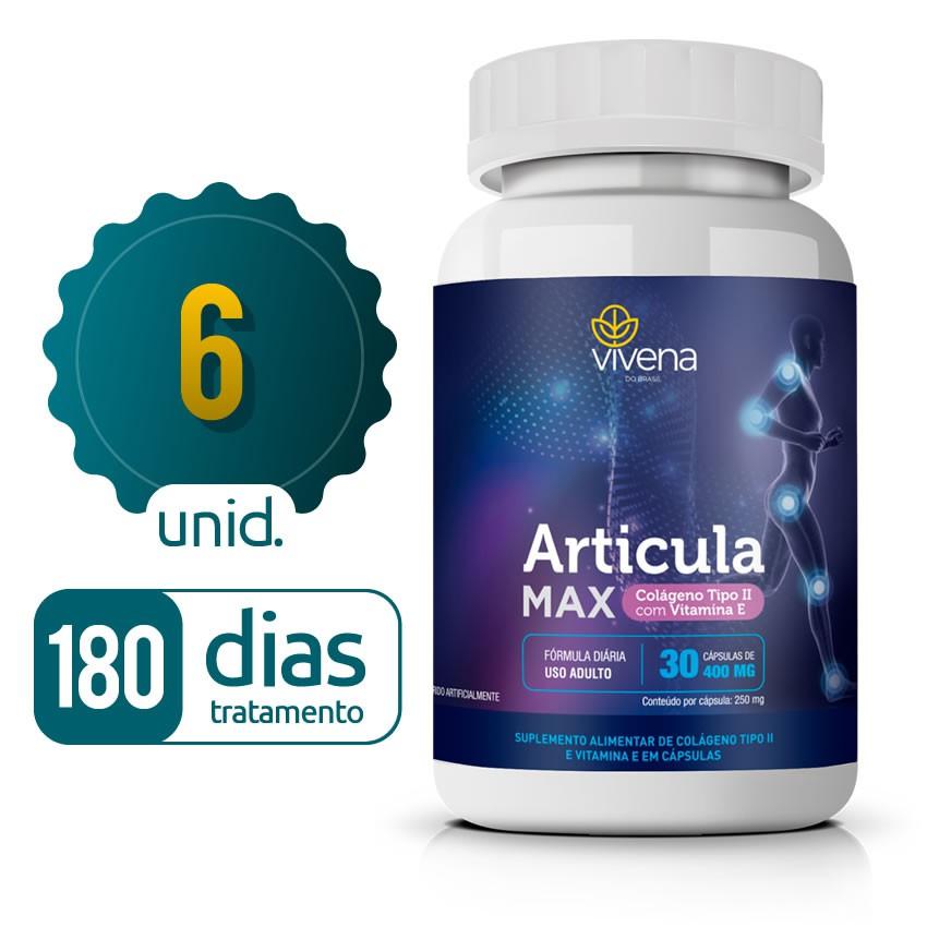 Articula Max - 06 Frascos - 180 dias de tratamento