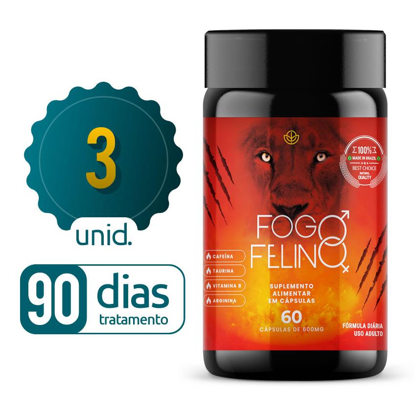 Fogo Felino - 03 Frascos - 90 dias de tratamento