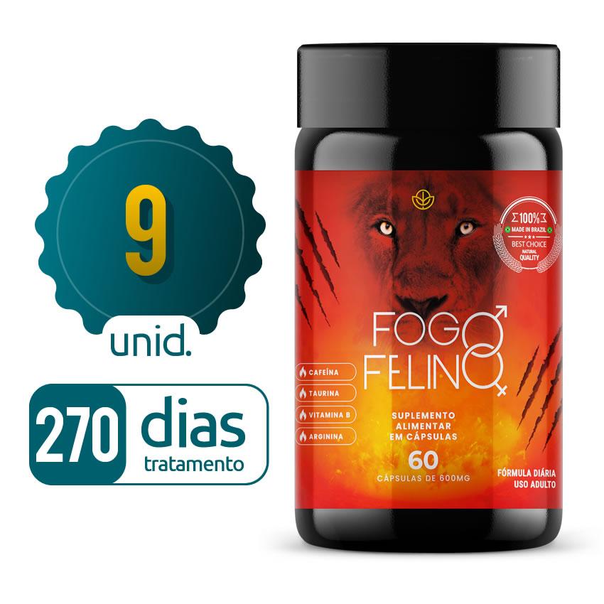 Fogo Felino - 09 Frascos - 270 dias de tratamento