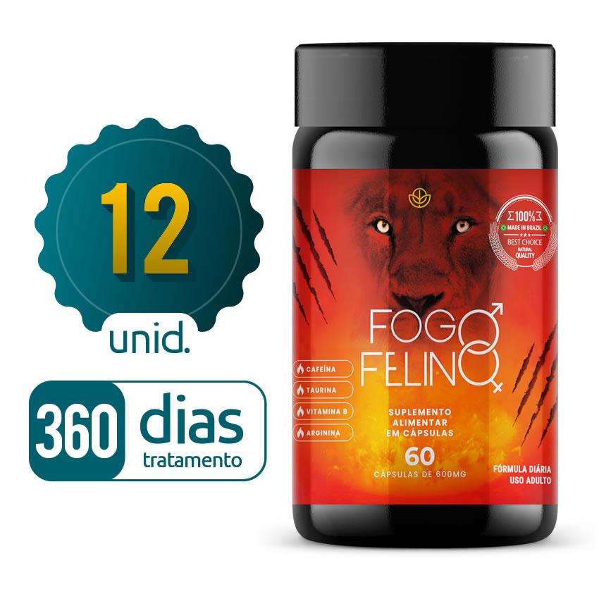 Fogo Felino - 12 Frascos - 360 dias de tratamento