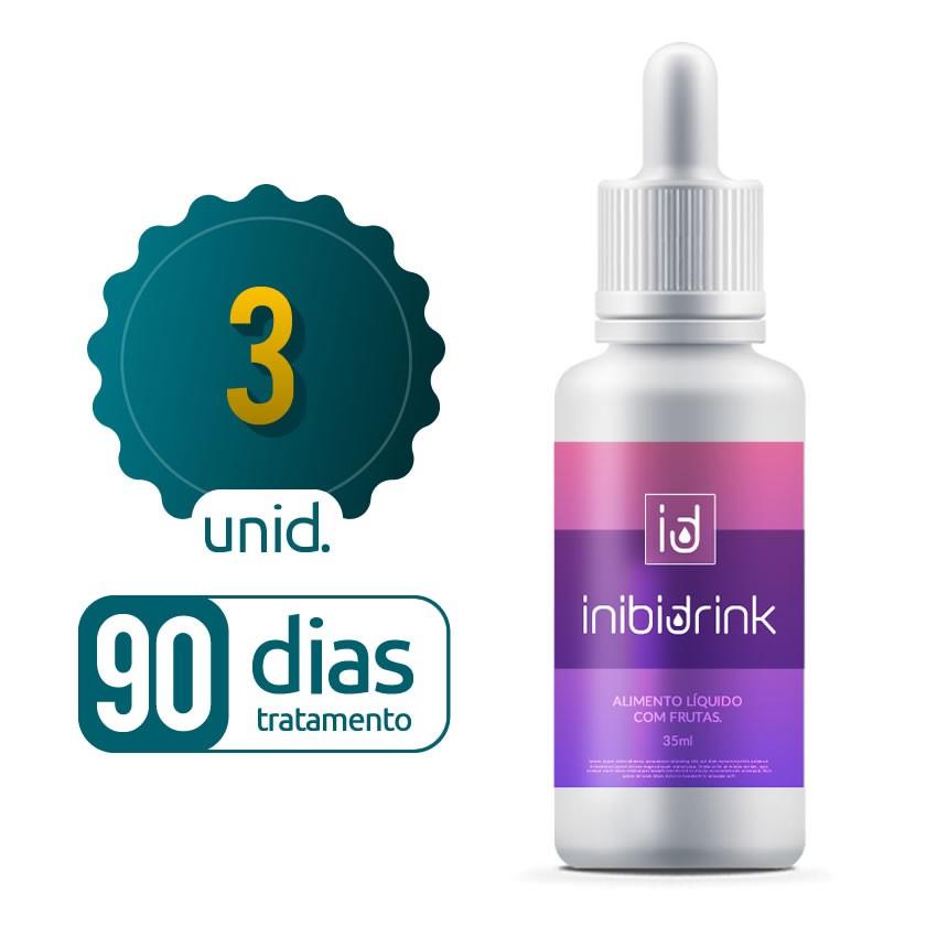 Inibi Drink - 03 Frascos - 90 dias de tratamento - Black Friday
