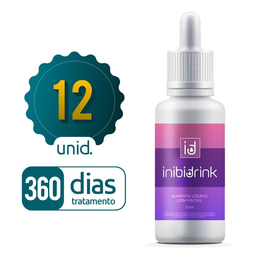 Inibi Drink - 12 Frascos - 360 dias de tratamento
