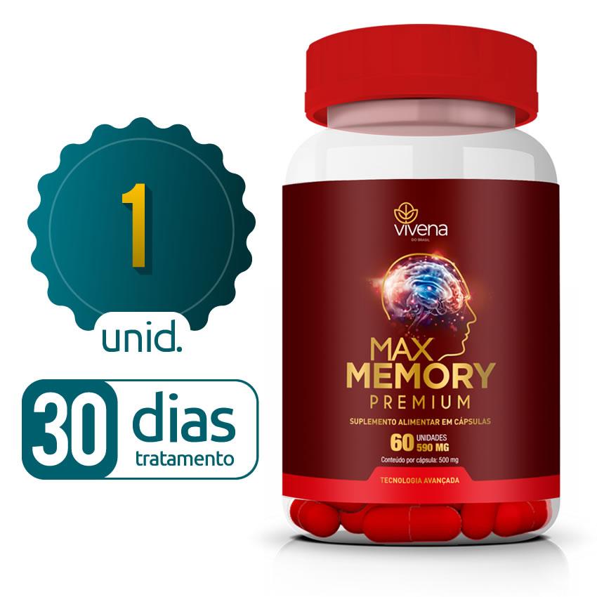 Max Memory - 01 Frasco - 30 dias de tratamento