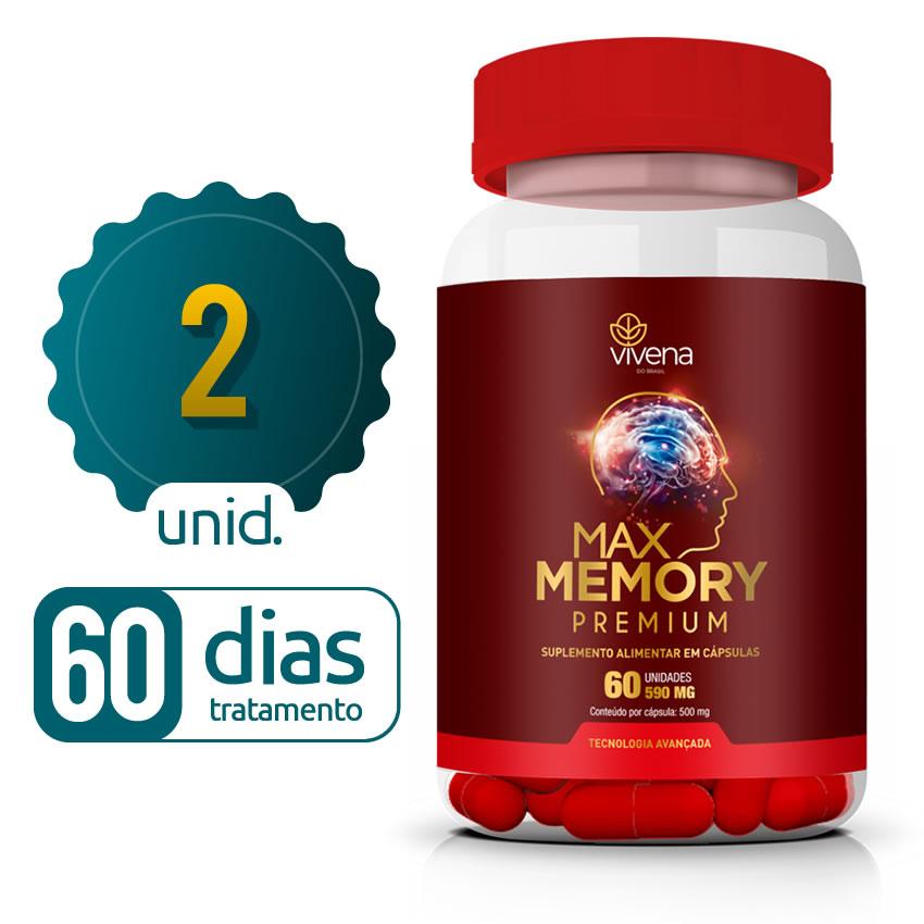 Max Memory - 02 Frascos - 60 dias de tratamento