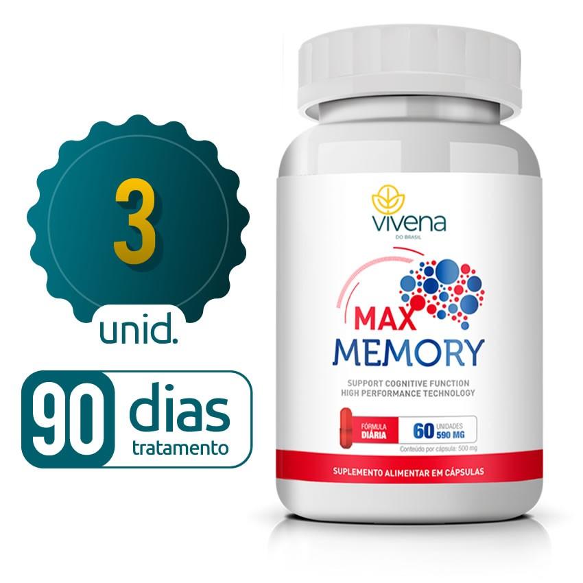 Max Memory - 03 Frascos - 90 dias de tratamento - Black Friday