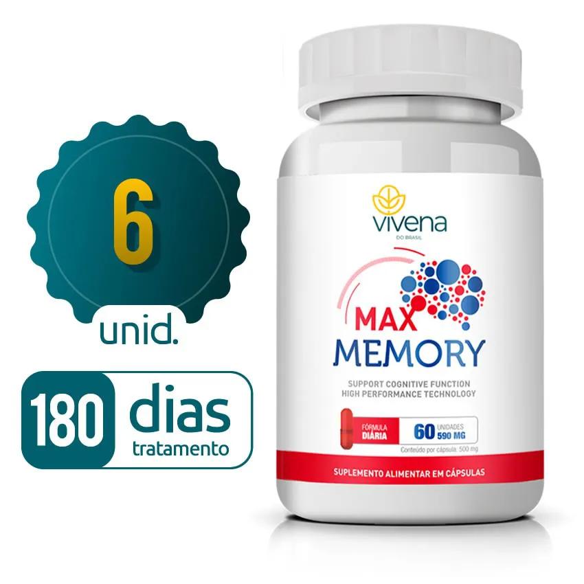 Max Memory - 06 Frascos - 180 dias de tratamento - 70% OFF