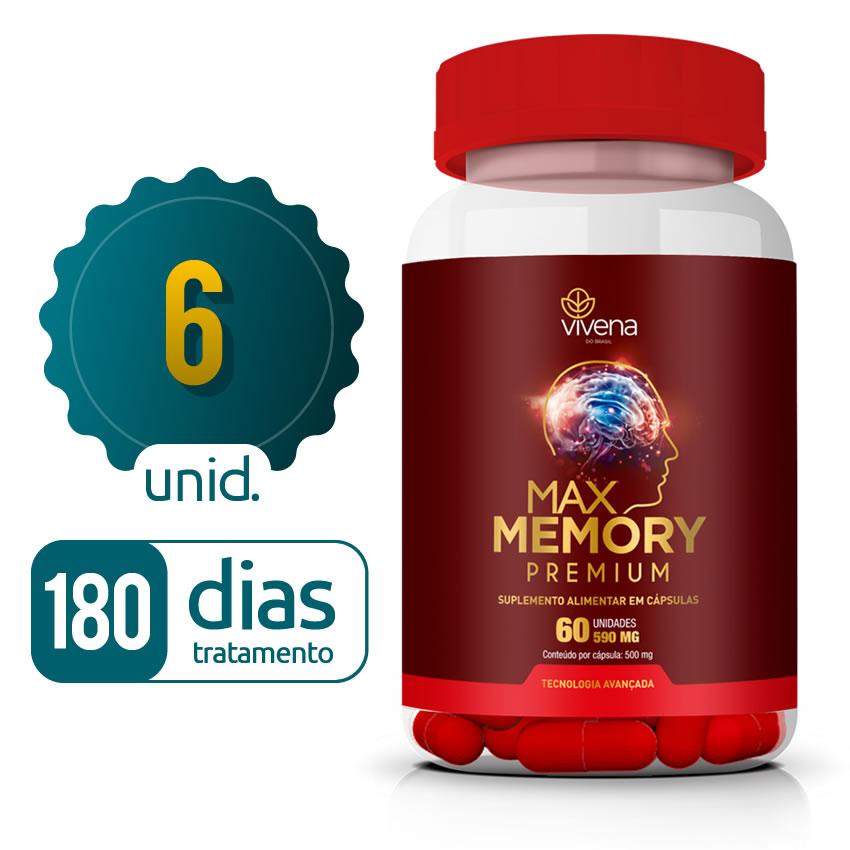 Max Memory - 06 Frascos - 180 dias de tratamento