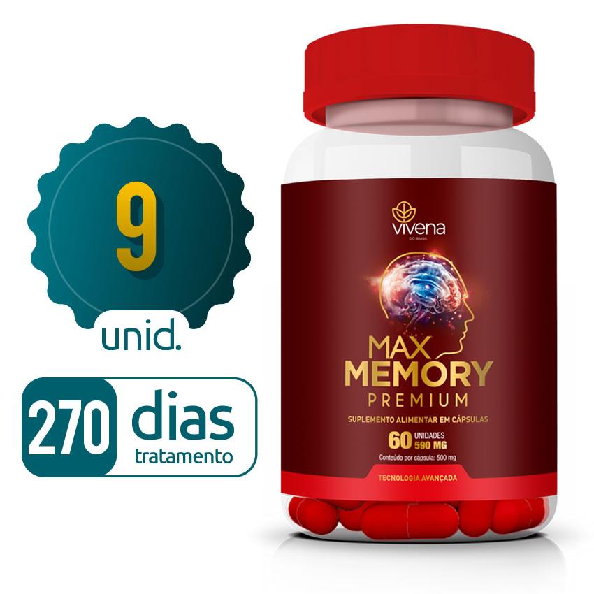 Max Memory - 09 Frascos - 270 dias de tratamento