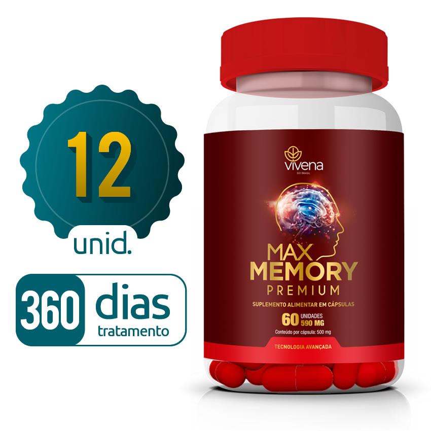 Max Memory - 12 Frascos - 360 dias de tratamento