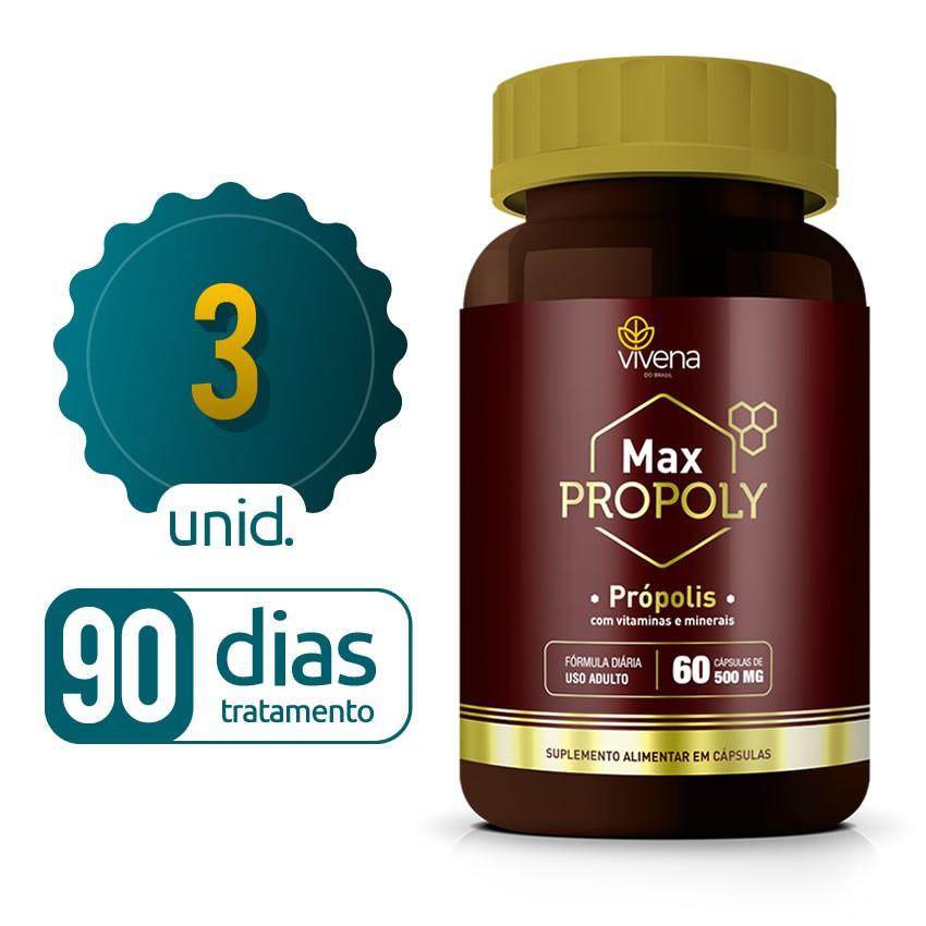 Max Propoly - 03 frascos - 90 dias de tratamento
