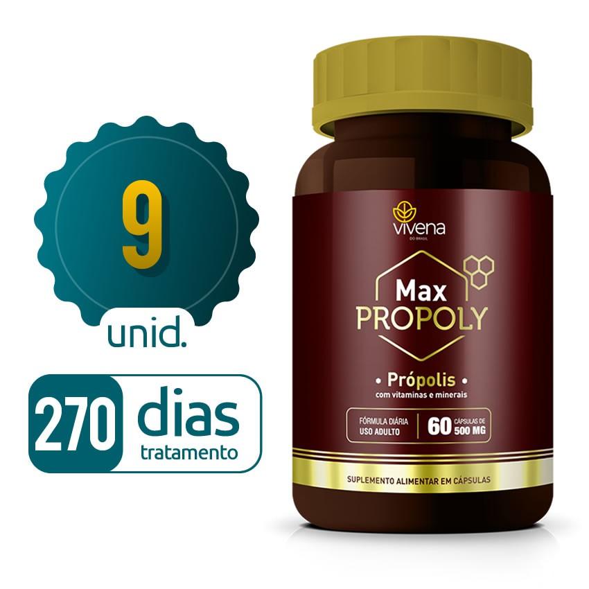 Max Propoly - 09 frascos - 270 dias de tratamento