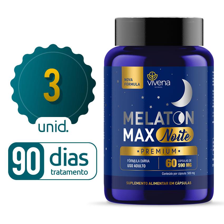 Melaton Max - 03 Frascos - 90 dias de tratamento