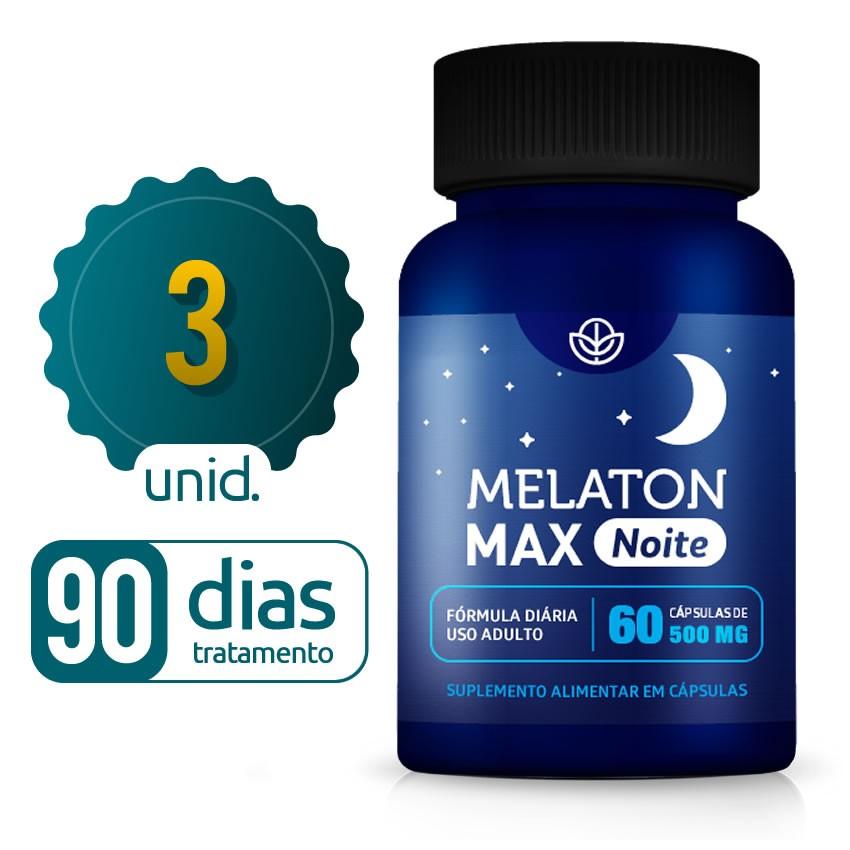 Melaton Max - 03 Frascos - 90 dias de tratamento - Black Friday