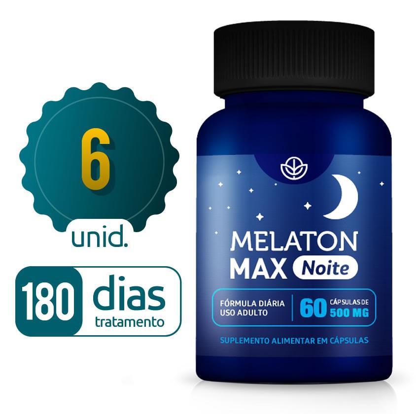Melaton Max - 06 Frascos - 180 dias de tratamento