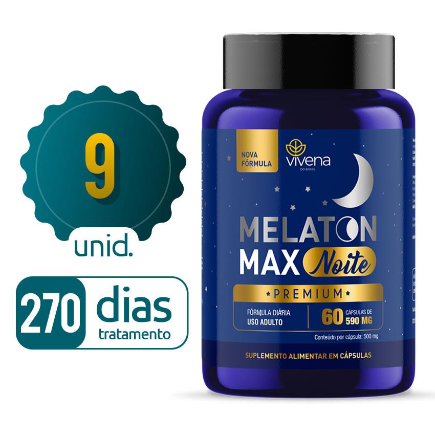 Melaton Max - 09 Frascos - 270 dias de tratamento