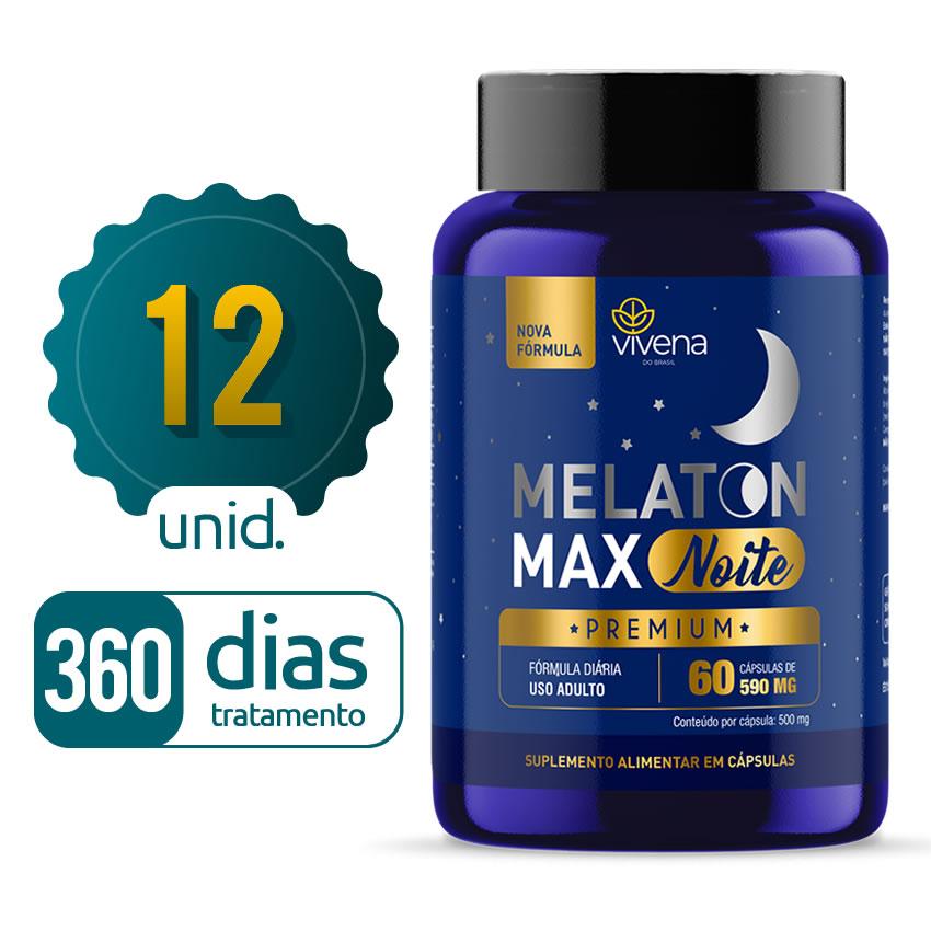 Melaton Max - 12 Frascos - 360 dias de tratamento