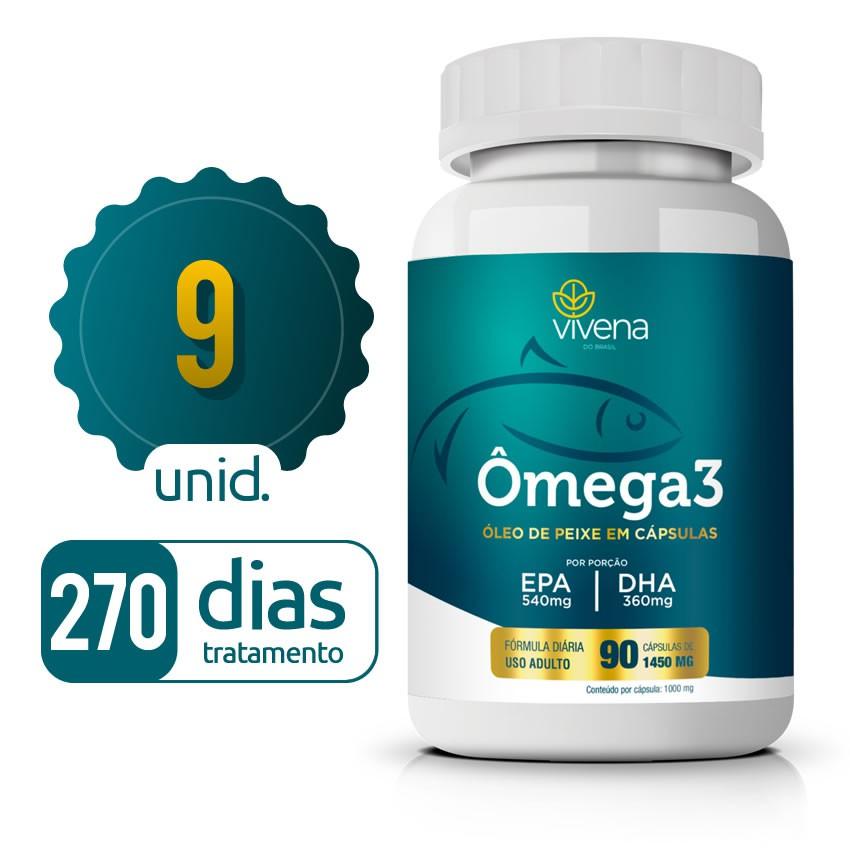 Omega 3 - 09 Frascos - 270 dias de tratamento