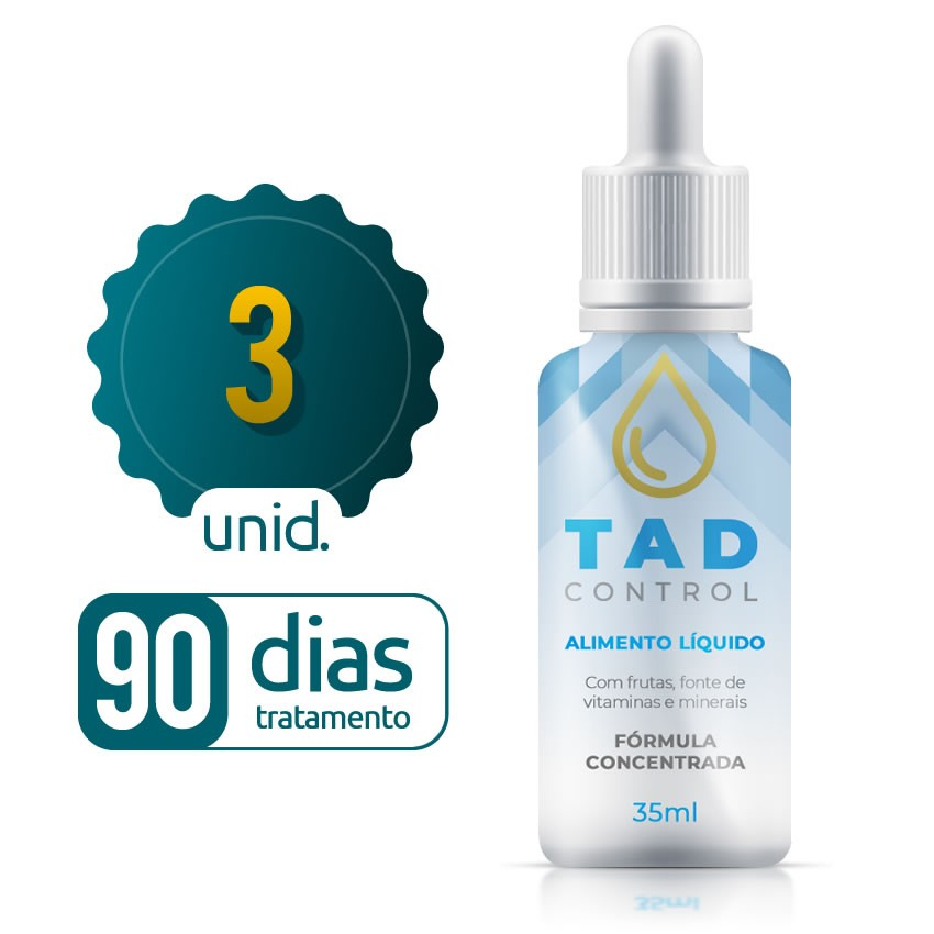 Tad Control - 03 Frascos - 90 dias de tratamento - Black Friday