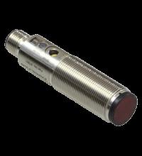 Sensor fotoelétrico difuso tubular M18, 10-30 VDC, range 0...200mm, PNP light/dark On, IP67