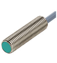 Sensor Indutivo M8, Sn 2mm (faceado), 10-30 VDC, PNP, NA, IP67, saida cabo 2m