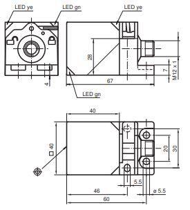 Sensor Indutivo 10-30 V DC, PNP, NA/NF, IP69K