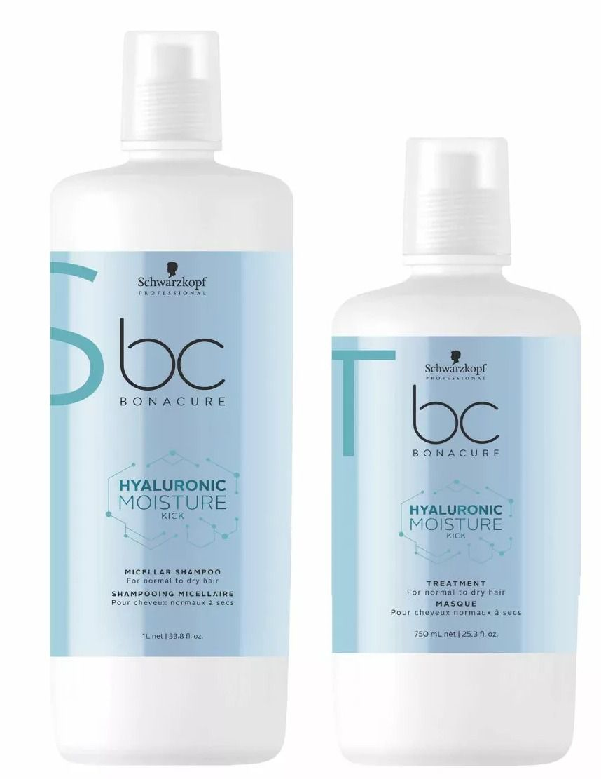 Kit Schwarzkopf BC Moisture Kick Shampoo 1L + Máscara 750ml