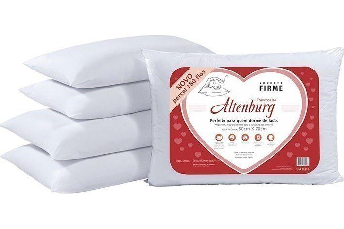 Travesseiro Altenburg Suporte Firme Percal 180 Fios 50x70cm