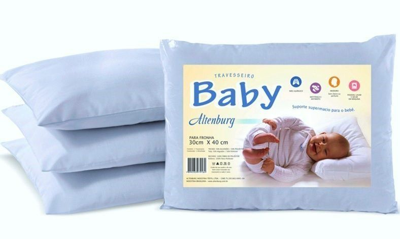 Travesseiro Bebê Altenburg 30x40cm Branco