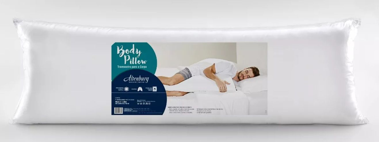Travesseiro De Corpo Body Pillow - Altenburg Branco