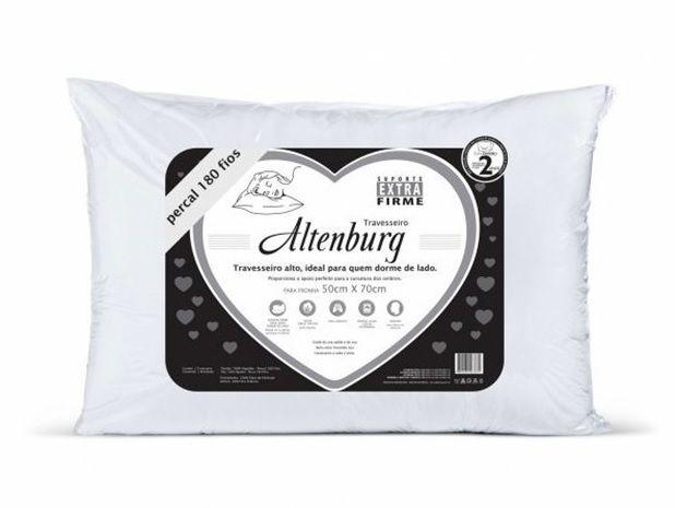 Travesseiro Extra Firme Percal 50x70cm Altenburg Branco