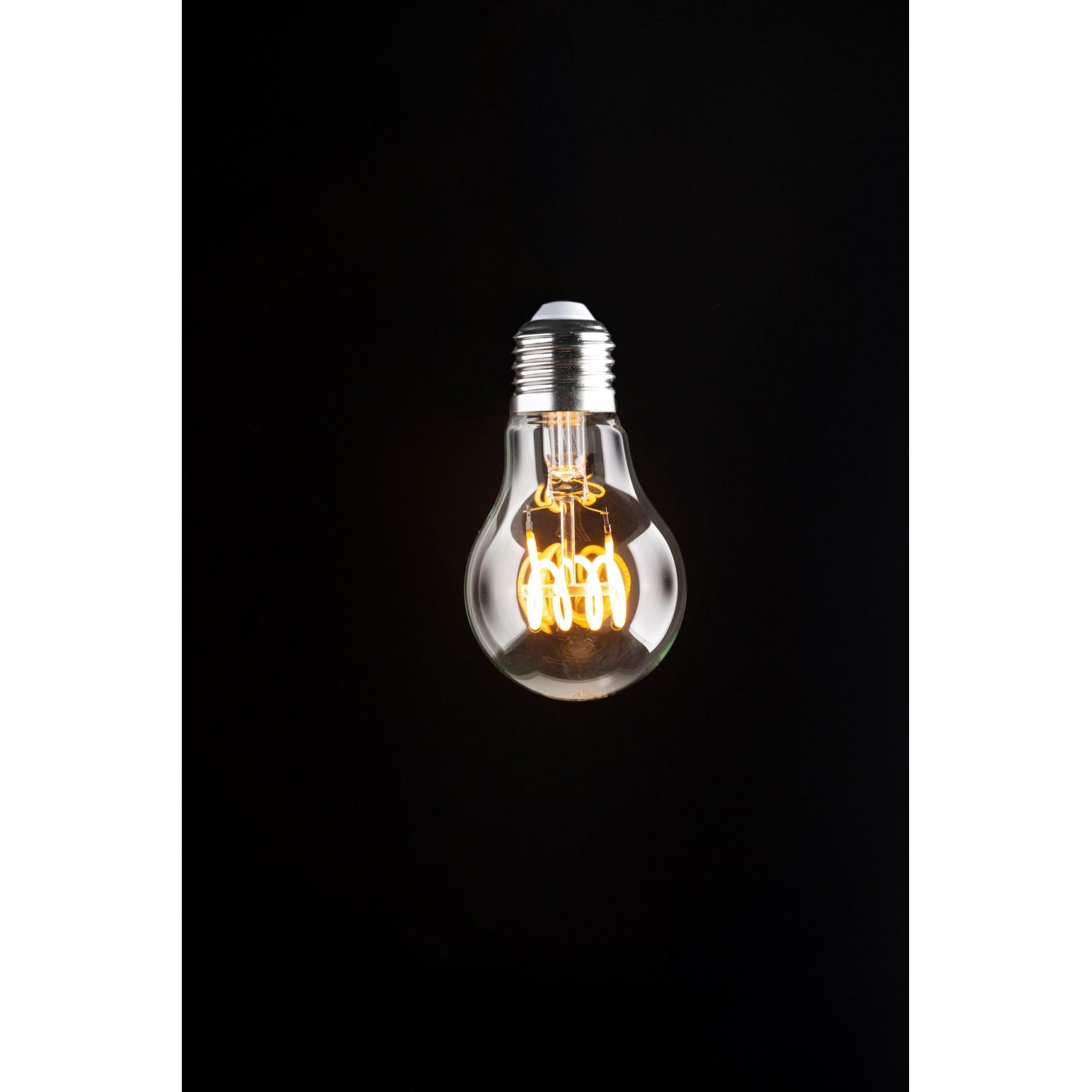 LAMPADA FILAMENTO LED VINTAGE SPIRAL VIDRO CLEAR TAMANHO PADRÃO 110 V