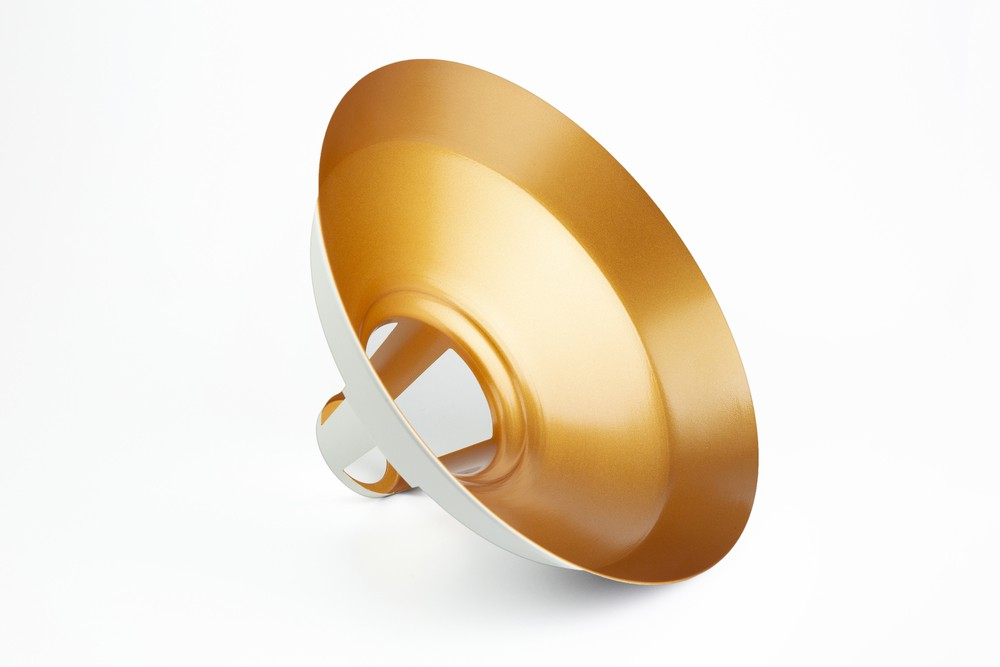 PENDENTE NAHUEN ESTILO INDUSTRIAL TAM G BRANCO MATTE/ GOLD | 1.5 M CABO