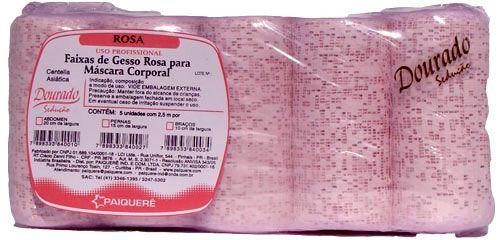 Atadura Gesso Lipolítico Rosa 10cm