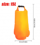 Boia de Sinalização 15L Laranja - Com Saco Estanque
