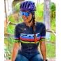Camisa Ciclismo ERT New Elite Racing - Unissex - Preto/Campeão Mundial