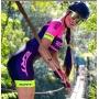 Macaquinho de Ciclismo ERT New Elite Gel - Rosa