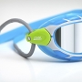 Oculos de Natacao Zoggs Predator Lente Titanium - Azul, Branco e Verde