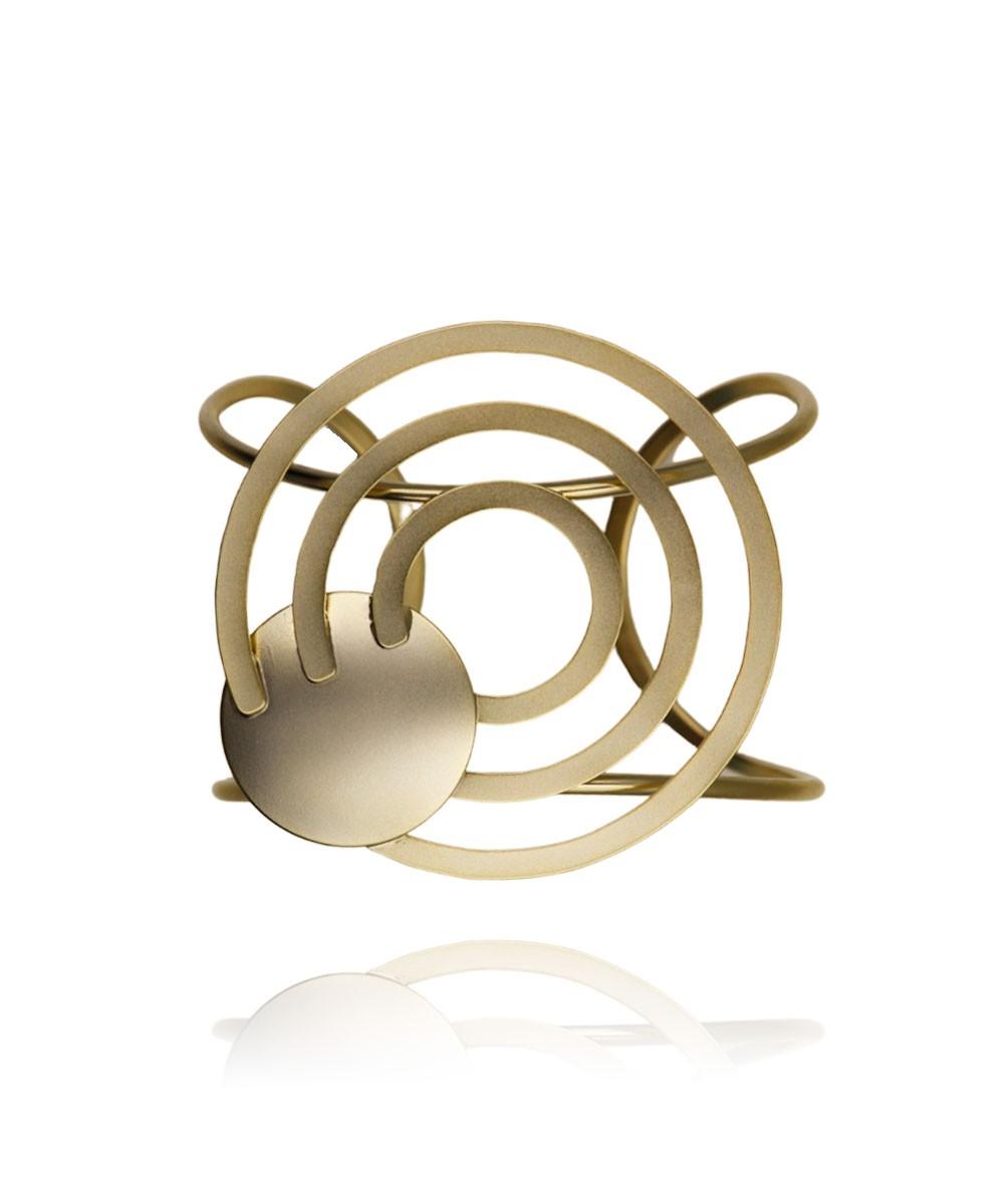 Bracelete Metal Redondo Banhado à Ouro