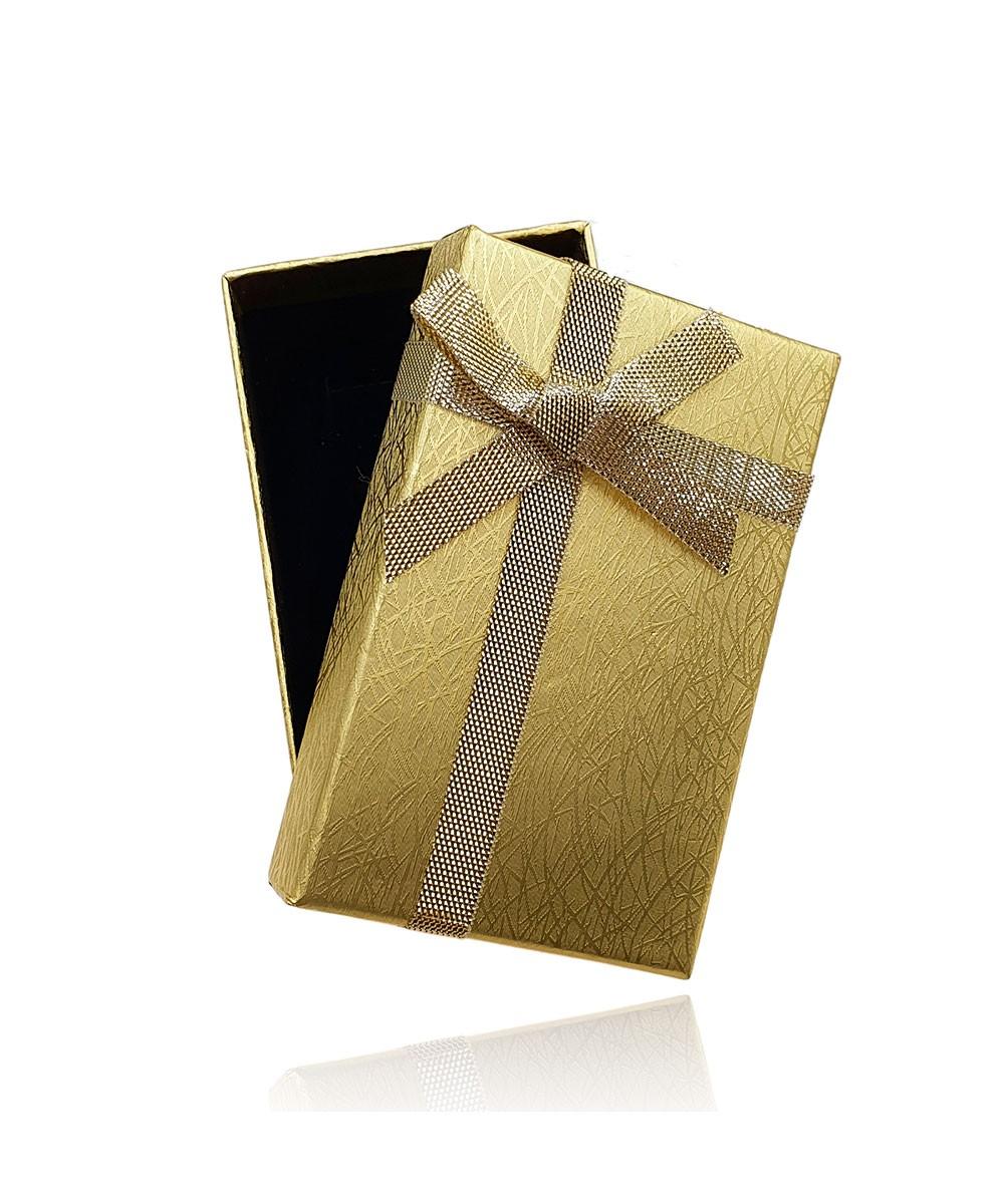 Embalagem Caixinha de Presente Banhado à Ouro