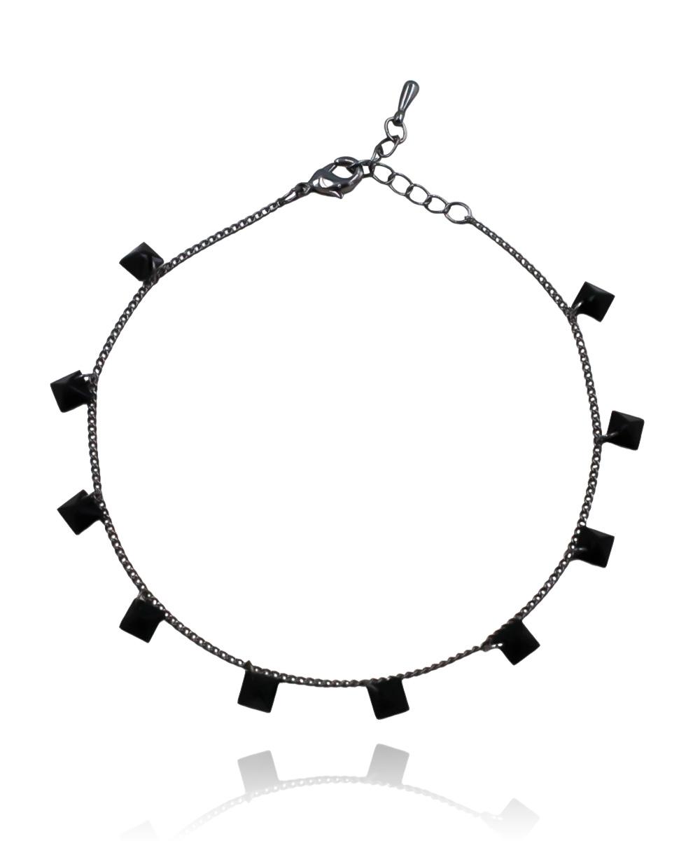 Pulseira Infinity de Zircônia Preto Ródio Negro