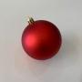 Conjunto de Bolas de Natal com 8 Unidades - Cores Vermelho e Dourado